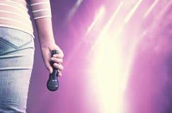 вектор певицы диско предпосылки Стоковая Фотография RF