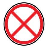 Вектор перекрестного символа красный, значок изолированный на белой предпосылке бесплатная иллюстрация