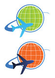 вектор перемещения логоса принципиальной схемы Стоковая Фотография