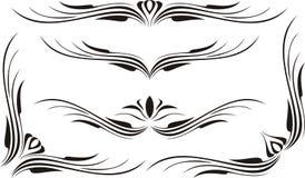 вектор переченя декора cartouche Стоковые Изображения RF