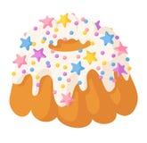 Вектор печенья изолированный тортом Стоковые Фото