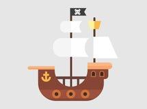 Вектор пиратского корабля Стоковые Изображения