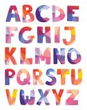 Вектор писем алфавита нарисованный рукой установил на белую предпосылку Стоковые Фото