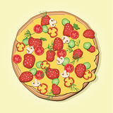 вектор пиццы архива eps включенный Стоковая Фотография RF