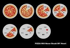 вектор пиццы архива eps включенный Стоковое Изображение