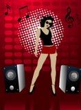 вектор плаката партии клуба Стоковое Изображение