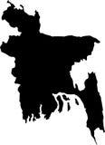 вектор плана карты Бангладеша иллюстрация вектора