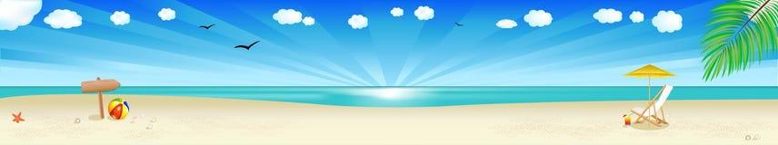 вектор пляжа знамени Стоковые Фотографии RF