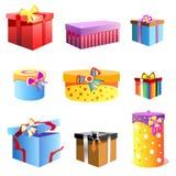 вектор подарка коробки Стоковое Изображение