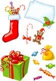 вектор подарков рождества изолированный иллюстрацией Стоковые Изображения