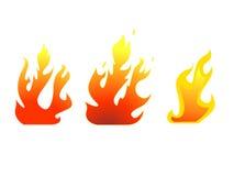вектор пожара установленный Стоковые Изображения RF