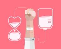 вектор пожертвования крови предпосылки медицинский Стоковые Изображения RF