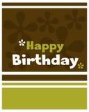 вектор поздравительой открытки ко дню рождения счастливый Стоковые Фотографии RF