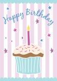 вектор поздравительой открытки ко дню рождения счастливый Стоковые Изображения