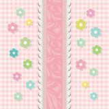 Вектор поздравительной открытки красивого младенца флористический Стоковое фото RF