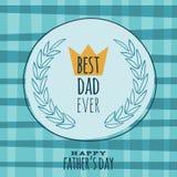 Вектор поздравительной открытки дня отцов ретро винтажный Стоковые Фотографии RF
