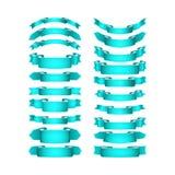 Вектор покрасил ленты сатинировки установленный Стоковое Изображение