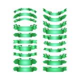 Вектор покрасил ленты сатинировки установленный Стоковая Фотография RF