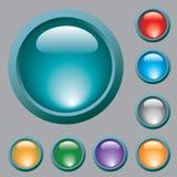 вектор покрашенный кнопками Стоковое Фото