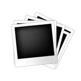 вектор поляроида рамок установленный Стоковые Фотографии RF