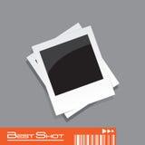 вектор поляроида фото рамки eps Стоковое Изображение