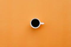 вектор померанца кофейной чашки eps10 предпосылки Стоковая Фотография RF