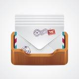 вектор почтового ящика иконы иллюстрация штока