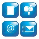 вектор почты иконы e установленный бесплатная иллюстрация