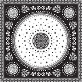 Вектор половика викторианского флористического медальона Пейсли орнаментальный этническо иллюстрация штока