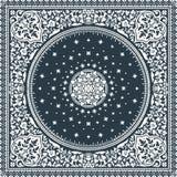 Вектор половика викторианского флористического медальона Пейсли орнаментальный этническо бесплатная иллюстрация