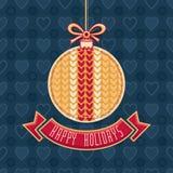 Вектор праздников поздравительной открытки счастливый форма шарика Стоковая Фотография RF