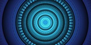 Вектор предпосылки абстрактного голубого дизайна энергетических технологий силы света круга современный футуристический Стоковое фото RF
