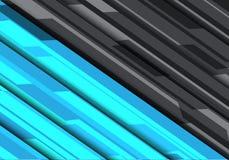 Вектор предпосылки абстрактного дизайна технологии полигона голубого серого цвета футуристического современный Стоковое Изображение