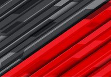 Вектор предпосылки абстрактного красного серого футуристического дизайна технологии современный Стоковая Фотография RF