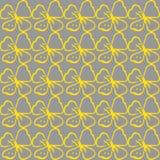 вектор предпосылки безшовный желтый цвет картины сердца цветков падения бабочки флористический Стоковое Фото
