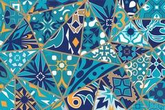 вектор предпосылки декоративный Картина заплатки мозаики для дизайна и моды стоковые фото