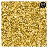 вектор предпосылки золотистый Sparkles золота золотистая мозаика Стоковые Изображения RF