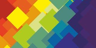 Вектор предпосылки картины конспекта цвета радуги геометрический Стоковые Фотографии RF