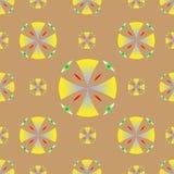 Вектор предпосылки кругов безшовной текстуры желтый иллюстрация вектора