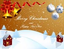 Вектор предпосылки рождества - красота украшения запаса искусства бесплатная иллюстрация