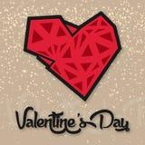 Вектор предпосылки сердца и звезды полигона дня валентинки отображает Стоковое Изображение RF
