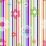 вектор предпосылки флористический пастельный безшовный Стоковое Изображение
