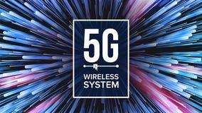 вектор предпосылки 5G Wi-Fi стандартный 5, 5-ое поколение Передача сигнала высокоскоростное соединение нововведения Будущее Стоковое Изображение