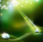 вектор предпосылки зеленый Стоковые Изображения