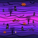 вектор предпосылки безшовный halloween Стоковое Фото