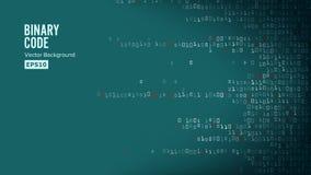 Вектор предпосылки бинарного кода Binary алгоритма, код данных, расшифровка и зашифрование, матрица строки иллюстрация штока