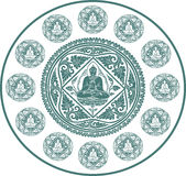 Вектор предпосылки Будды Стоковые Изображения RF