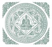 Вектор предпосылки Будды Стоковые Изображения