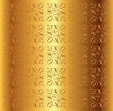 Вектор предпосылки золотого металла флористический Стоковое Изображение
