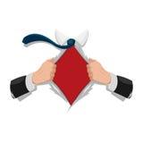 Вектор предпосылки изолята рубашки супергероя белый Стоковая Фотография RF